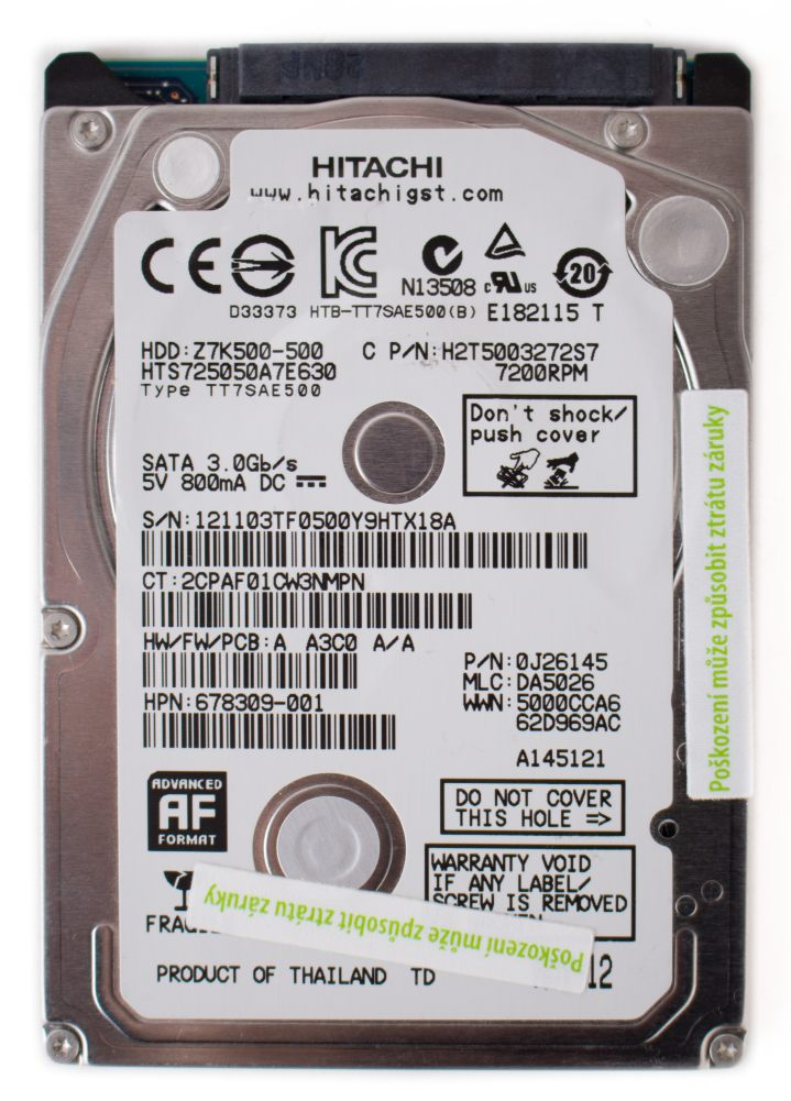 Hitachi HDD 500 GB 7200 RPM